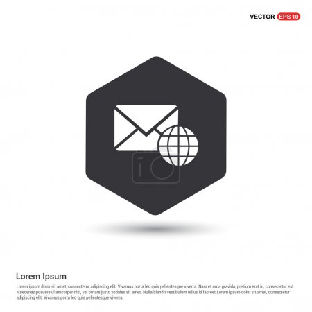 Envelope and globe Mail icon