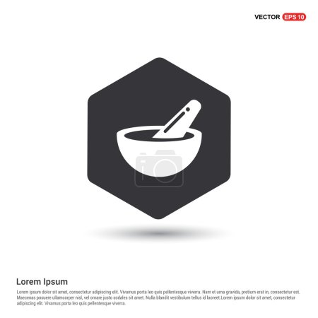 Illustration for Mortar and pestle icon. vector illustration - Royalty Free Image