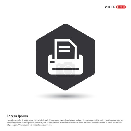 Illustration for Office printer icon. vector illustration - Royalty Free Image