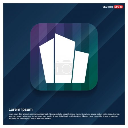 Illustration for Apartment buildings icon. vector illustration - Royalty Free Image