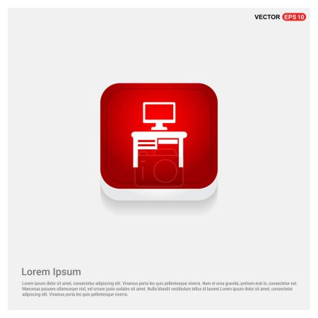 Computer on table icon