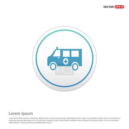 Illustration for Ambulance car icon. vector illustration - Royalty Free Image