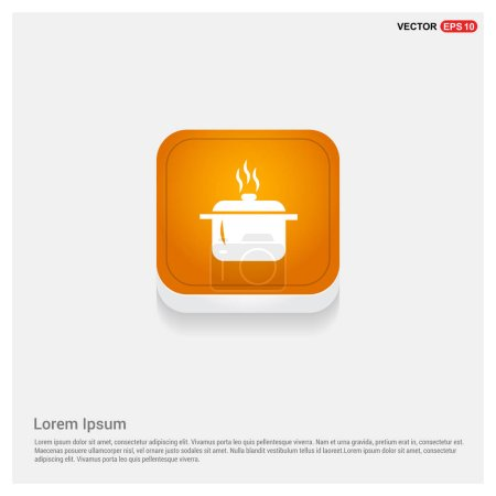Illustration for Cooking pot icon. Vector illustration - Royalty Free Image