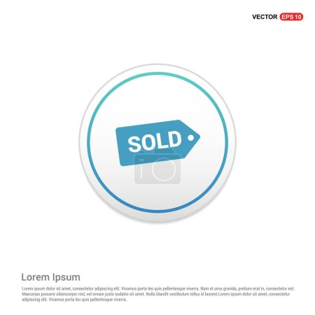 Sold price tag icon