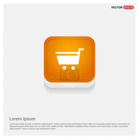 Shopping cart sign icon