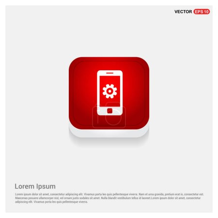 mobile smartphone with gear icon