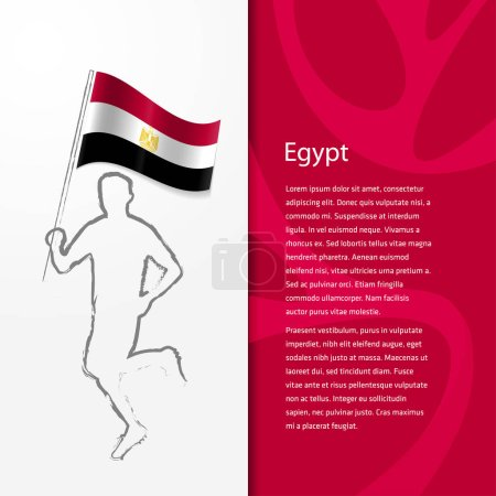 brochure with man holding Egypt flag