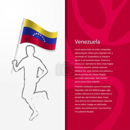 brochure with man holding Venezuela flag