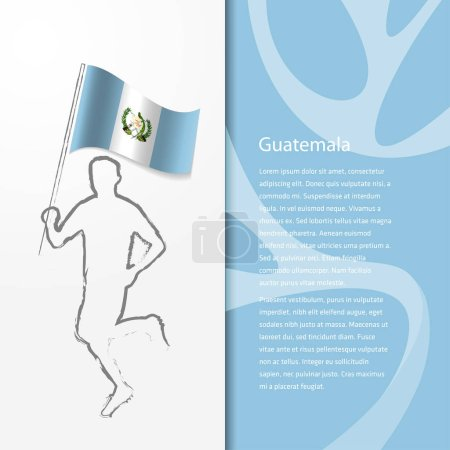 brochure with man holding Guatemala flag