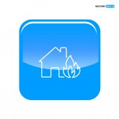 House accident icon vector illustration