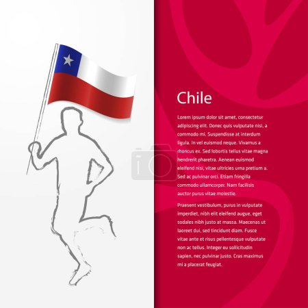 brochure with man holding Chile flag