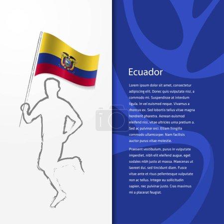 brochure with man holding Ecuador flag