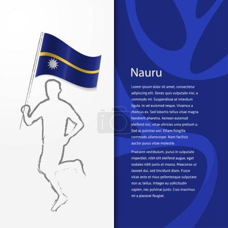 Brochure with man holding Nauru flag