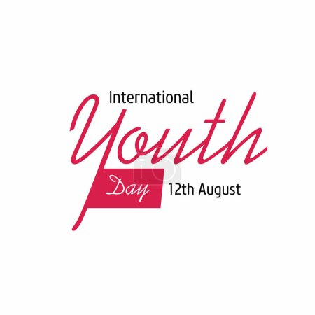 Illustration for International youth Day vector illustration - Royalty Free Image