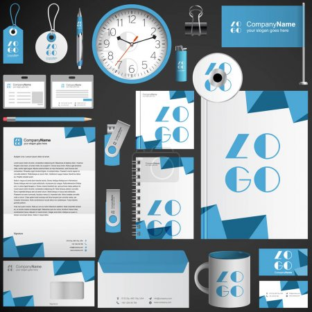 Turquoise corporate identity template