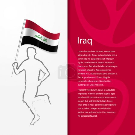 brochure with man holding Iraq flag