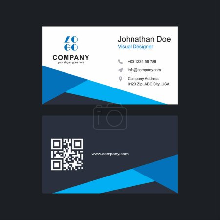 Illustration for Modern business cards template, vector illustration - Royalty Free Image