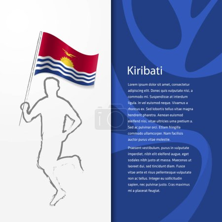 Brochure with man holding Kiribati flag