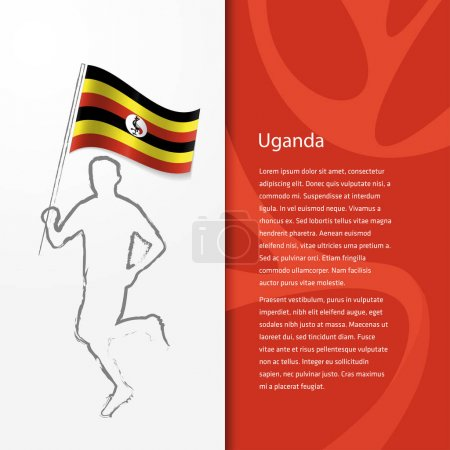 Brochure with man holding Uganda flag