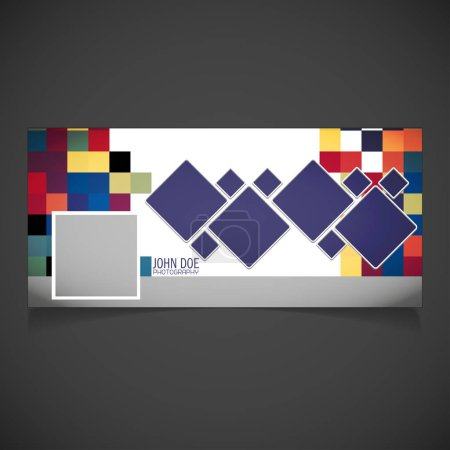 Illustration for Abstract geometric pixel pattern, vector illustration - Royalty Free Image