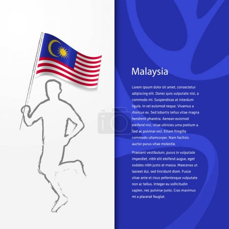 brochure with man holding Malaysia flag