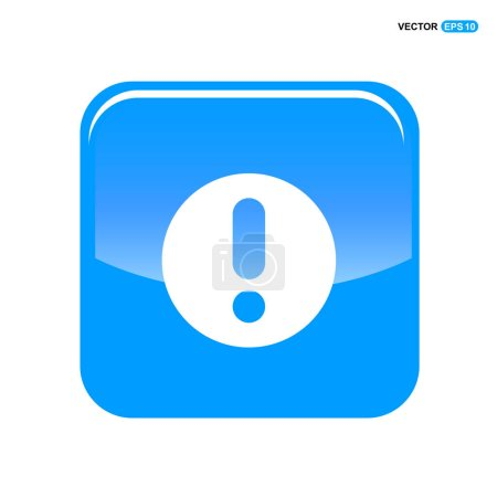 Attention in blue button