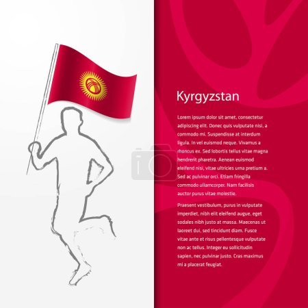 brochure with man holding Kyrgyzstan flag