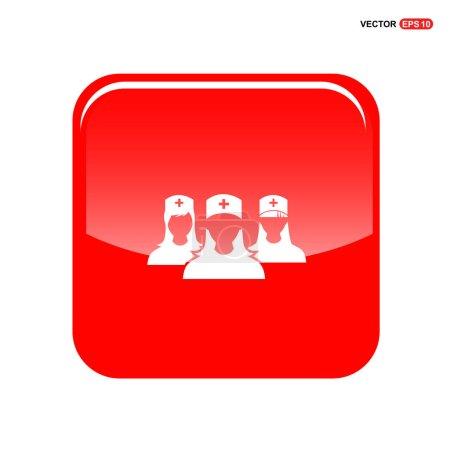 Doctors flat icon
