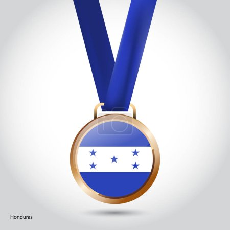 Honduras flag in bronze medal