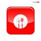 Ikona nabídky potravin s vidličkou a lžící