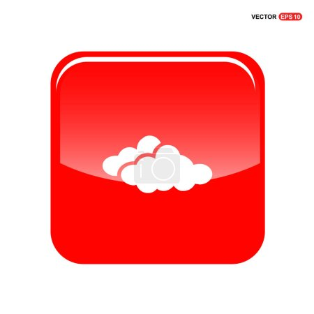 Illustration for Weather clouds icon. vector illustration - Royalty Free Image