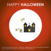invitation on halloween party greeting card