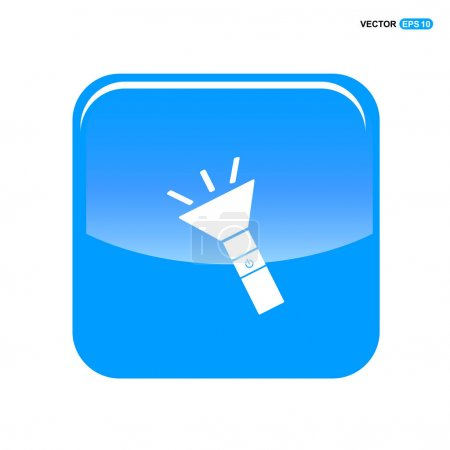 Illustration for Electric flashlight icon. vector illustration - Royalty Free Image