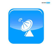 Satellite dish icon vector illustration