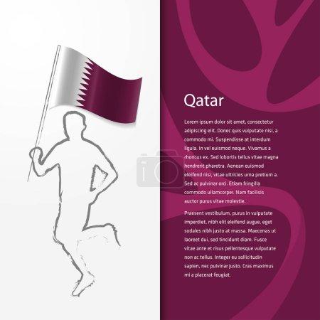 Brochure with man holding Qatar flag