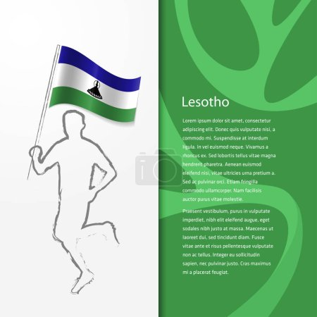 Brochure with man holding Lesotho flag