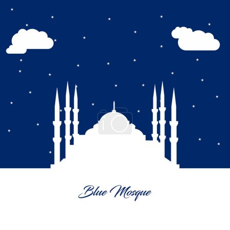 Blue Mosque flat icon