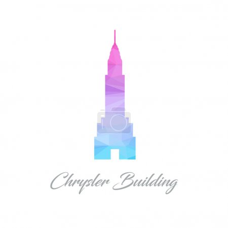 Chrysler building flat icon