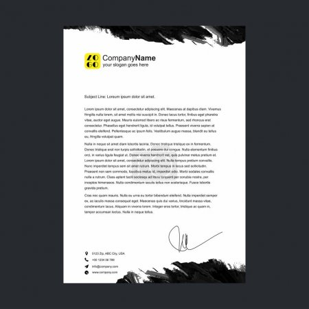 corporate official letter template
