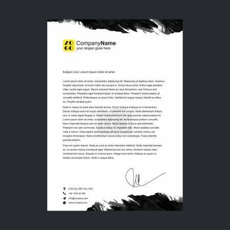 Illustration for Corporate official letter template for your business - Royalty Free Image