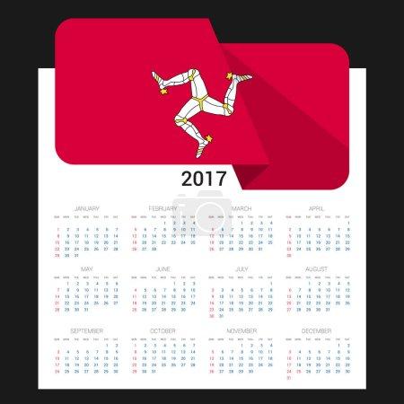 2017 calendar with  flag