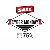 Banner of cyber monday sale vector illustration