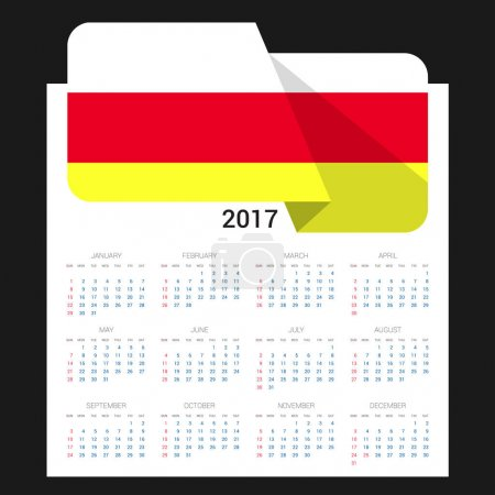 2017 calendar with South Ossetia   flag