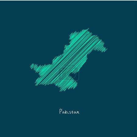 world map illustration, Pakistan