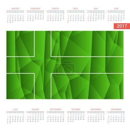 2017 calendar with Ladonia  flag