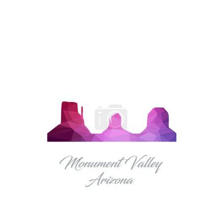 flat icon of polygonal monument