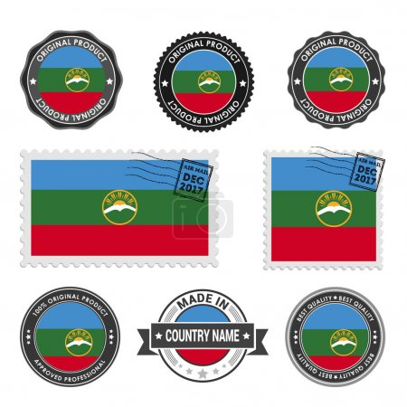 set of colored stamps Karachay-Cherkessia