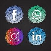 Social  Web Icons Set vector