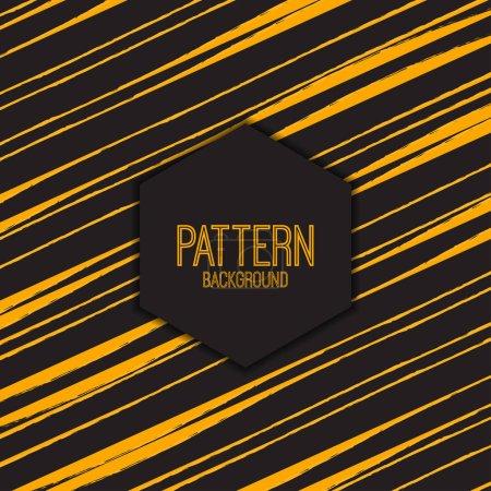 Ilustración de Patrón abstracto con líneas brillantes, ilustración vectorial, texto de fondo de patrón - Imagen libre de derechos