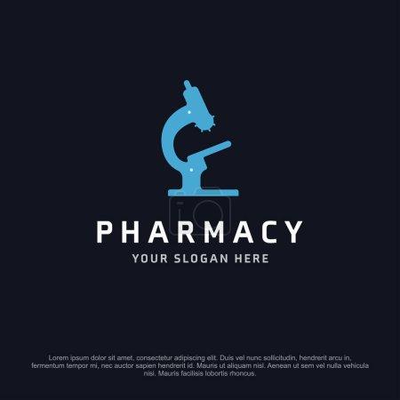 Illustration pour Bannière pharmacie avec espace libre pour le texte, illustration vectorielle - image libre de droit